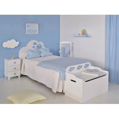 Dormitorio infantil Nubes. Modelo Cabecero